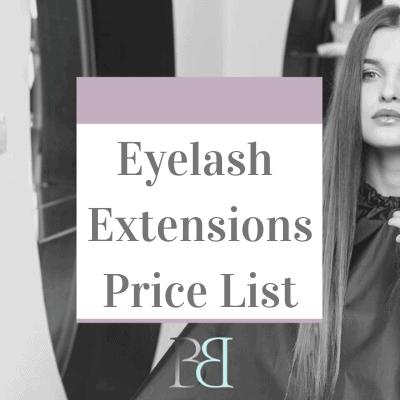 Eyelash Extensions Price List 13
