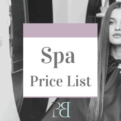 Spa Price List12